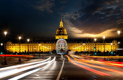 Les Invalides in evening Royalty Free Stock Images