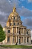 Les Invalides hotel, Paris. Les Invalides hotel, final resting place of Napoleon Bonaparte, Paris, France Stock Image