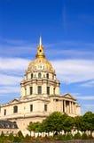 Les Invalides - komplex av museer och gravvalv av Napoleon Bonapart Royaltyfri Bild
