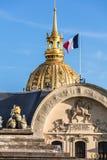 Les Invalides Krajowa siedziba Invalids Paryż, F obraz royalty free