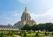 Les Invalides Krajowa siedziba Invalids w Paryż, Francja fotografia stock