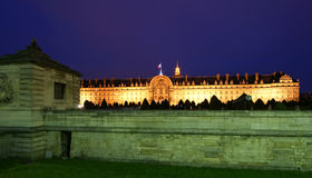 Les Invalides (The National Residence of the Invalids) at night Royalty Free Stock Photos