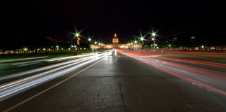 Les Invalides at night - Paris, France Royalty Free Stock Images
