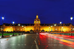 Les Invalides at night - Paris, France. Stock Image