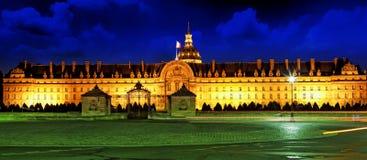 Les Invalides at night Royalty Free Stock Image