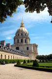 Les Invalides, Paris. Place of the tomb of Napoleon Bonaparte royalty free stock photos