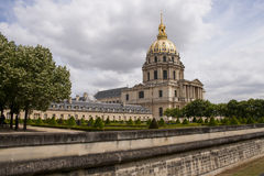 Les Invalides, Paris. Les Invalides is a complex of baroque buildings, burial place for some of the French war heroes, is located in the center of Paris and was Royalty Free Stock Images