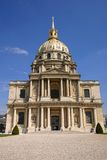 Les Invalides in Paris France. With blue sky Stock Photography