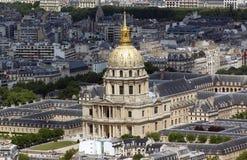 Les Invalides, Paris, France. View of Les Invalides, Paris Royalty Free Stock Photography