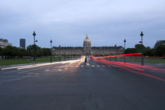 Les Invalides, Paris, France. Les Invalides (The National Residence of the Invalids) at night - Paris, France Royalty Free Stock Photos