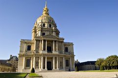 Les Invalides in Paris. France Stock Photo
