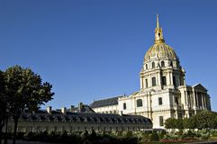 Les Invalides in Paris. France. Les Invalides in Paris, France consists of a complex of buildings in the 7th arrondissement containing museums and monuments, all Royalty Free Stock Photos