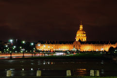 Les Invalides in Paris, France. Consists of a complex of buildings containing museums and monuments, all relating to the military history of France Royalty Free Stock Photos