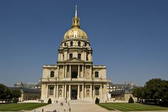 Les Invalides in Paris. Frankreich Stockfotografie