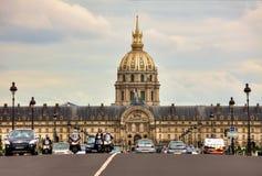 Les Invalides. Paris Frankrike. Arkivbild