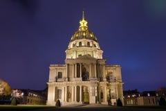 Les invalides, Paris, Frankrike Arkivbilder