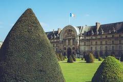 Les Invalides - Paryscy Francja miasta spacery podróżują krótkopędu Zdjęcia Stock