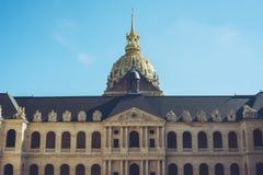 Les Invalides - Paryscy Francja miasta spacery podróżują krótkopędu Fotografia Royalty Free