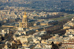 Les Invalides view from top Royalty Free Stock Image