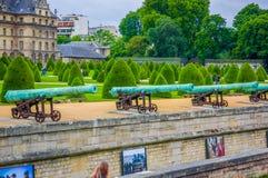 Les Invalids ogródy, Paryż, Francja fotografia stock