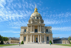 Les Invalids in Paris, France Royalty Free Stock Photo