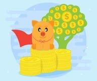 Les investissements réussis apportent le bénéfice superbe Investissement correct et raisonnable pour la richesse Création d'un fl illustration libre de droits