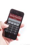 Les iphone4S font du tort le mot de passe photos stock