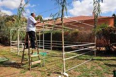 Les Israéliens se préparent aux vacances juives Sukkoth Photographie stock