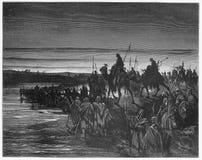 Les israélites croisent le fleuve Jourdain