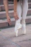 Les jambes d'une ballerine Photographie stock libre de droits