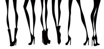 Les jambes des femmes Images libres de droits