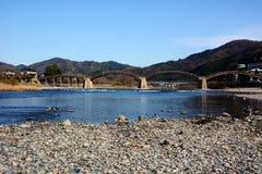 Les Japonais célèbres wodden le pont/Kintaikyo images libres de droits