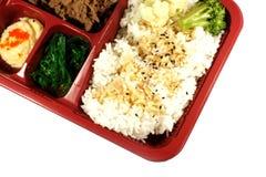 Les Japonais sortent le positionnement de repas photographie stock