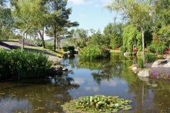 Les jardins à l'og Fjaere de Flor images libres de droits