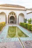 Les jardins d'AlcazabaÂ, Malaga, Espagne Photographie stock
