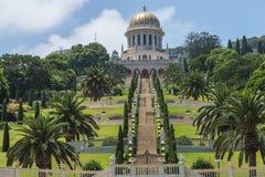 Les jardins de Bahai à Haïfa Images stock
