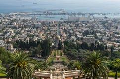 Les jardins de Bahai à Haïfa Photos libres de droits