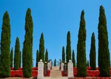 Les jardins de Bahai dans l'acre d'acre image stock