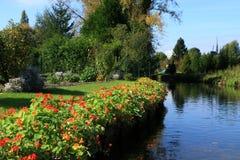 Les jardins de flottement d'Amiens, France Images libres de droits