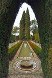 Les jardins de Generalife, Grenade, Espagne Photo stock