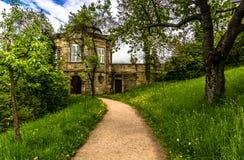 Les jardins de l'abbaye de Michaelsberg Photos stock