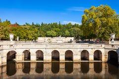 Jardins de la Fontaine park royalty free stock image