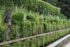 Les jardins de la villa D'este images libres de droits