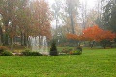 Les jardins de Roma Square à Crémone, Italie Image libre de droits