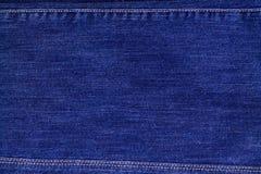 Les jeans donnent une consistance rugueuse avec la texture de coutures Photo libre de droits