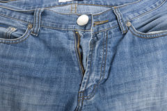 Les jeans se ferment vers le haut Photo libre de droits