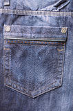Les jeans vident la poche photographie stock libre de droits