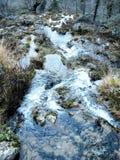 Les jets de la rivière du monde en sierra De Alcaraz Images stock