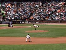 Les jets de Matt Caïn lancent en tant que 2ème Freddy de base Sanchez Photos libres de droits
