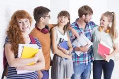 Les jeunes à l'école Images libres de droits